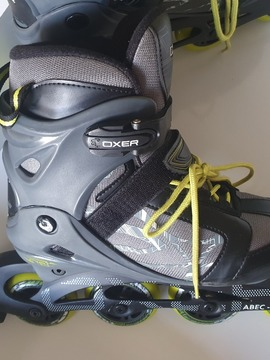 Patins Oxer Byte - In Line - Fitness - Abec 7 - Juvenil-Adulto-cinza