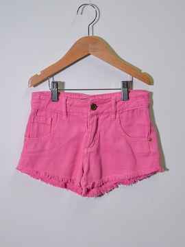 Shorts Jeans Rosa Anime