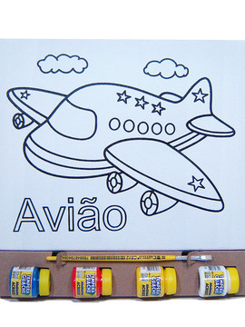 Kit Tela P - Avião - Kits for Kids