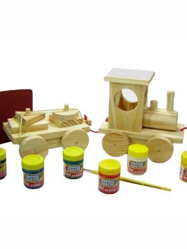 Kit Pintar e Brincar G - Trem - Kits for Kids