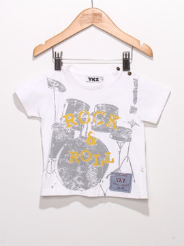 T-shirt Ykz Rock 7 Roll