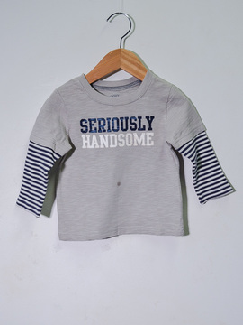 "Camiseta ""Serioulsly Handsome"" Carter's"