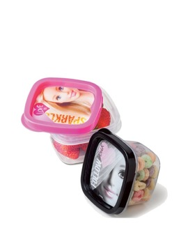 kit 2 Potes Quadrados da Barbie Girl - 200ml cada.