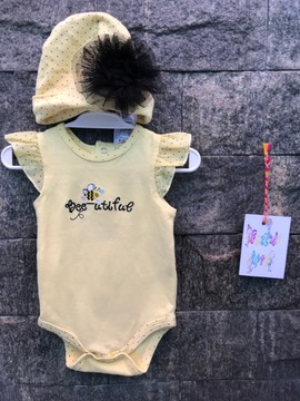 Conjunto Body e touca, Baby essentials - 3 meses