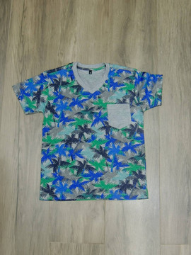 Camiseta Gola V Tropical