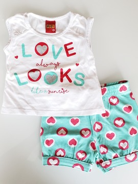 Conjunto Short e Regatinha Love Always Look Like Sunrise