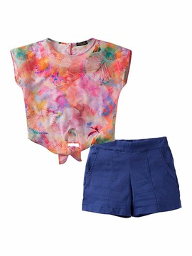 Conjunto Giovanna Chaves Blusa Estampada + Short