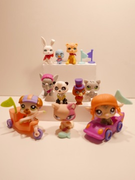 Lote de Littlest Pet Shop originais com carrinhos